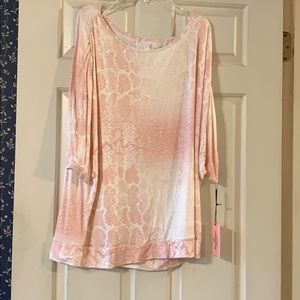Juicy Couture Reptile Pink Snake Glittery Blouse